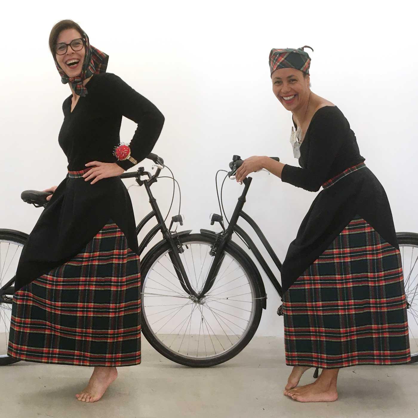 Jupe Ecossasse en vélo